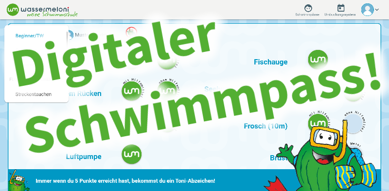Digitaler Schwimmpass